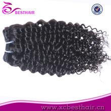2014 mejor venta superior sin procesar brasileña del pelo humano de la venta negro de la muchacha de la virgen de la muchacha