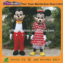 2014 nuevos productos lovey niños de mickey del traje del ratón adulto