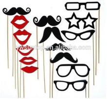 15 pcs/set Photo Booth Props Red Lip Glasses Mustache Fun Mask Set Wedding Party Favor decoration wholesale
