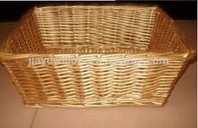 golden color basket decoration for chrismas wicker storage basket
