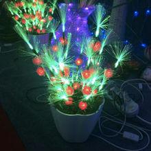 Decorative led fiber optic flower light