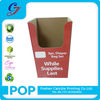 2014 custom shiny red design free standing cardboard display rack for diaper bag promotion sale