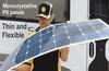 high efficiency 140w flexible solar panel for boats