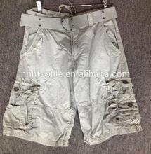 2014 Fashion summer Men's custom wholesale cargo shorts with belt ,wash pants, in China