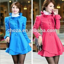 C25146A WHOLESALE WOMEN KOREAN STYLE WINTER TRENCH COATS
