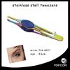 Amazing stainless steel/ effective beauty girl eyebrow tweezer