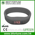 Lp1321_bkブラック色鮮やかなワンピースのシリコーンストラップ主導bracelete時計