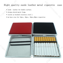 2014 high quality suede leather cigarette case