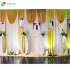 China fiber supplier splendid shining indoor events wedding/banquet backdrop curtain decoration mandaps