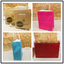 Industry products corrugated cheap paper packaging bag with cotton string