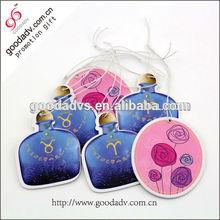 Cheap custom logo car air fresheners wholesale / new car smell perfume