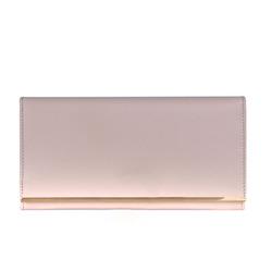 Saffiano cow split leather multifunctional clutch wallet