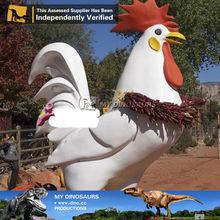 My Dino-safari animals rubber outdoor metal sculptures madagascar cock