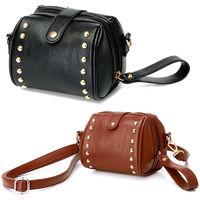 Women's leather retro rivets purse hand bag SV002391