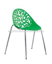 Hi-tech new design clear plastic desk chair