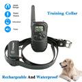 sangle réglable gros chien col large lcd 100 niveau 300m choc électrique télécommande rechargeable et étanche