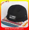100% cotton custom hip hop caps 5 panel hats