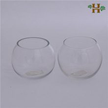 small glass ball vase clear