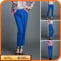 2014 novo Design de moda verão vestido de algodão azul escuro calça azul