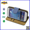 card holder wallet flip cover case for galaxy s4 mini i9190 Laudtec