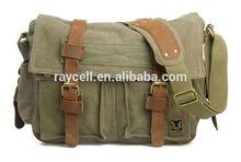 2014 most popular vintage canvas and leather DSLR camera bag