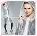 Chlorure de polyvinyle imperméables/transparent cape de pluie/manteau de pluie