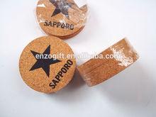 custom cork placemats and coasters, shrink wrapped cork coaster set, wholesale cork pot pad