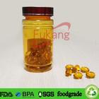 Top sale plastic capsule containers, 120cc gold plastic vitamin bottles