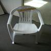 White plastic chair for injection molding or knids of plastic chair with moulds