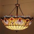 lámpara de techo cristal tintado Tiffany bonita, luces de techo