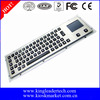 LED illuminated metal usb wired keyboard with touchpad