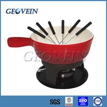Enamel Coating Cast Iron Cheese Mini Fondue
