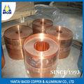 Tp2 suave de cobre 99.9% 2 pulgadas maleabilidad y flexibilidad de la tira de cobre de la bobina para las paredes