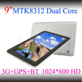 9 polegadas tablet pc tablet pc mtk8312 dual core android, dual câmera 3g+gps+bt, baixo preço android tablet
