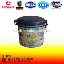 Airtight lipton tin box with lock