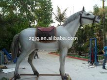 Outdoor animals life size fiberglass horses
