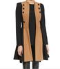 2014 winter women tail coat dress Two-Tone Military Coat