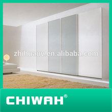 2014 modular bedroom furniture built-in wardrobe with sliding door door