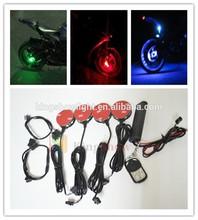 Multi Color LED Motorcycle Car Bike Wheel Pod Light Custom Glow Accent Bike Sport