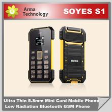 SOYES S1 Card Mobile Phone 7.0mm Ultra Thin Pocket Mini Phone Quad Band FM Low Radiation Mini S5