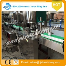 2000CPH juice tinplate can filler sealer SS304
