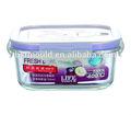 Resistente ao calor de vidro de borosilicato de forma mais nítida comida/vidro recipiente de armazenamento