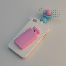Hot new products for 2014 with unique fan for iPhone 4S case PC