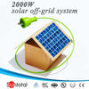 High efficiency residential solar energy systems with inverter, controller, panels and batteries