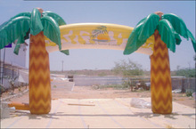 Customized inflatable palm tree archway, inflatable event arch S5044