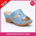 2014 brillante de alta calidad duradera de la moda azul de las mujeres sandalias de plataforma de ofrecer la muestra gratuita