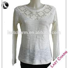 LAST CHARM fashion casual ladies white ruffled blouse