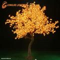 Branco quente levou maple árvore de luz/simulação árvore com folhas de bordo