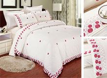 100% cotton home sense bedding set wholesale embroidery bedding set embroidered bedsheet sets made in china