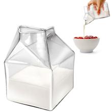 Funky Creative Cute Mini Creamer Milk Carton Glass Container